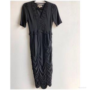 Burberry black midi dress